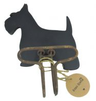 WESTIE SCOTTIE DOG MINI CHALKBOARD AND METAL HOOK GREAT GIFT FOR DOG LOVERS....